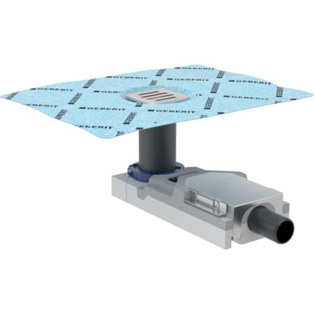 Bonde pour douche de plain-pied Geberit pour hauteur de chape au niveau de l'arrivée d'eau 65–90 mm