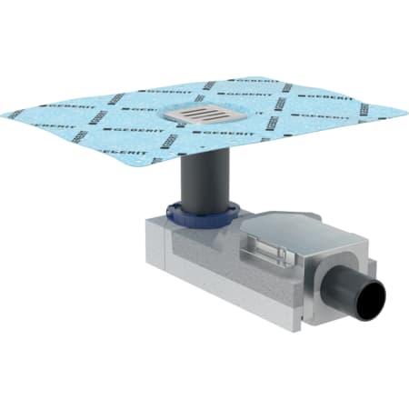 Bonde pour douche de plain-pied Geberit pour hauteur de chape au niveau de l'arrivée d'eau 90–220 mm