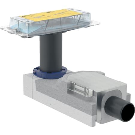 Geberit set za montažu za tuš kanale serije CleanLine, za visinu estriha na podnom sifonu od 90–220 mm
