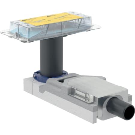 Geberit montagesæt til render til brusenicher i serien CleanLine, til betonhøjde ved indløb 65–90 mm