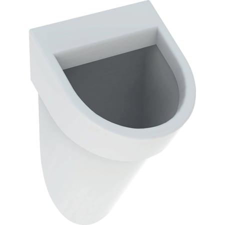 Geberit-urinaali Flow, vesiliitäntä takaa, viemäröinti taakse