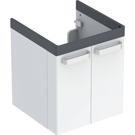 Geberit Renova Comfort -alakaappi pesualtaalle, kahdella ovella