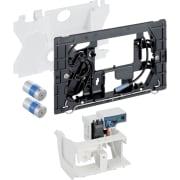 Geberit uređaj za ispiranje WC-a sa elektronskim aktiviranjem ispiranja, baterijsko napajanje, dvokoličinsko ispiranje, za radio-taster
