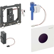 Geberit urinalstyring med elektronisk skyllestyring, batteridrift, frontplade type 01