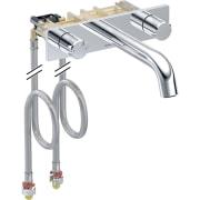Geberit ONE armatura za umivaonik sa okruglim dizajnom, zidna montaža, mešač sa dve ručke, za ugradnu funkcionalnu kutiju