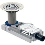 Bonde pour douche de plain-pied Geberit pour revêtements de sol en polychlorure de vinyle (PVC), pour hauteur de chape à l'entrée 94–114 mm