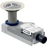 Bonde pour douche de plain-pied Geberit pour revêtements de sol en polychlorure de vinyle (PVC), pour hauteur de chape à l'entrée 114–215 mm