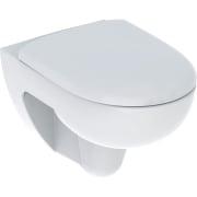 Pack WC suspendu à fond creux Geberit Renova, Rimfree, avec abattant WC
