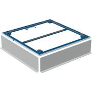 Cadre d'installation Geberit pour receveur de douche Setaplano, jusqu'à 100 cm, pour quatre pieds