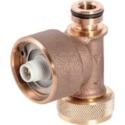 Capteur de débit volumique interne Geberit, pour rinçage forcé hygiénique dans le réservoir à encastrer, pour raccordement à l'eau froide ou à l'eau chaude