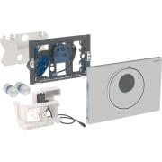 Geberit uređaj za ispiranje WC-a sa elektronskim aktiviranjem ispiranja, baterijsko napajanje, dvokoličinsko ispiranje, tipka za aktiviranje Sigma10, automatsko / beskontaktno / ručno