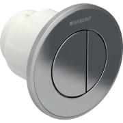 Geberit afstandsbediening type 10, pneumatisch, voor 2-toets spoeling, voor Sigma inbouwreservoir 8 cm, inbouwdrukker