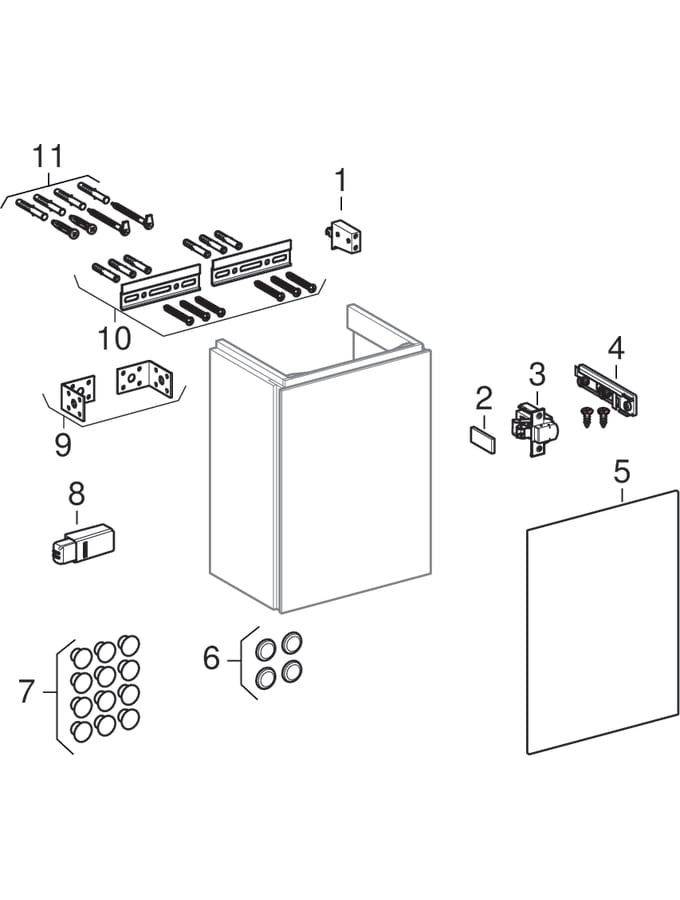 Underskabe til håndvask (Geberit Xeno², 420)