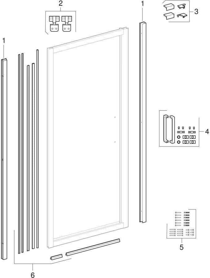 Okretna vrata (Geberit GEO)