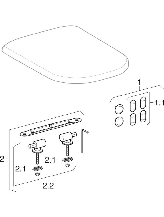 WC sedišta (Geberit iCon)