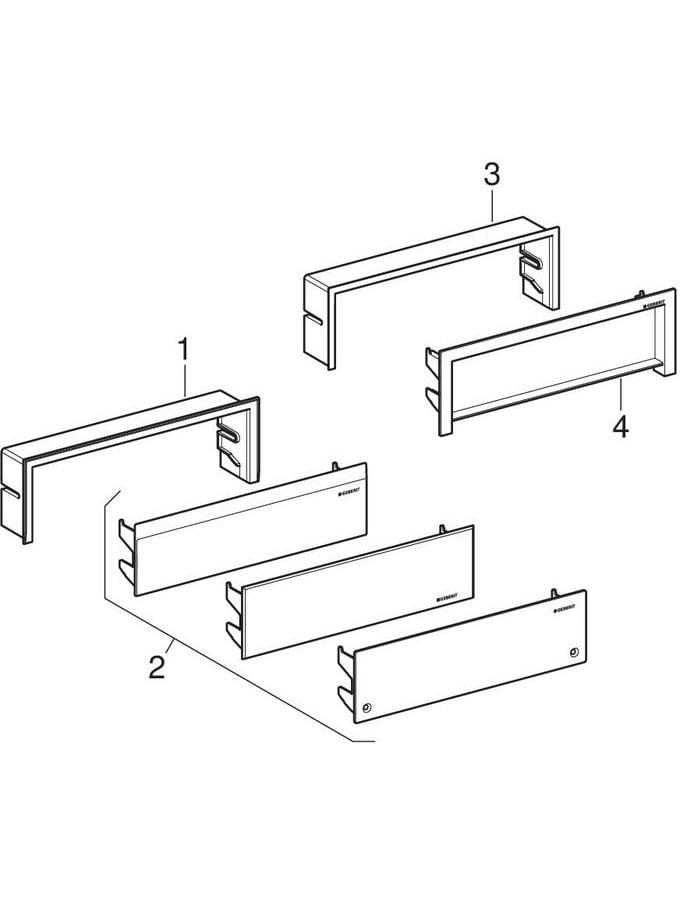 Kits de finition pour éléments de douche Geberit Uniflex