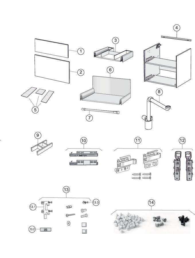 Washbasin cabinets with two drawers (Ifö Sense, Sense Pro)